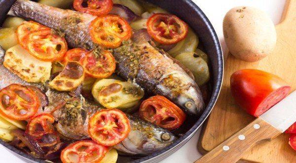 طريقة عمل السمك البوري في الفرن فتكات