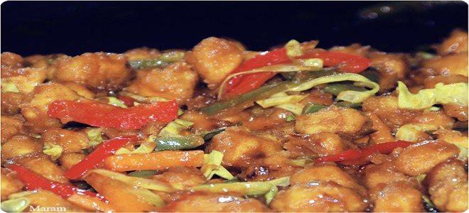 طريقة عمل الدجاج الصيني بالصويا بالنشا بالخضار ديما حجاوي