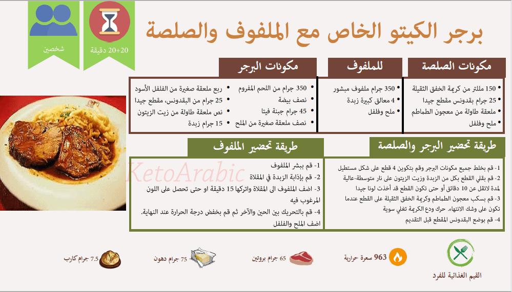 جدول وجبات كيتو دايت لانقاص الوزن